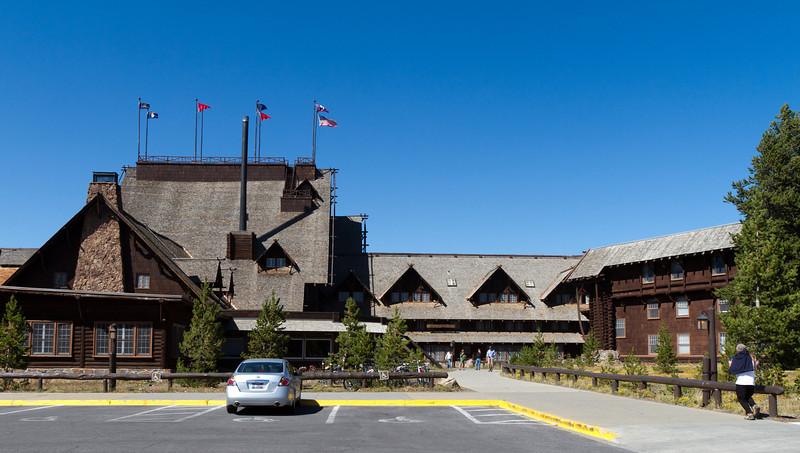 Old Faithful Inn - the famous old-time lodge.