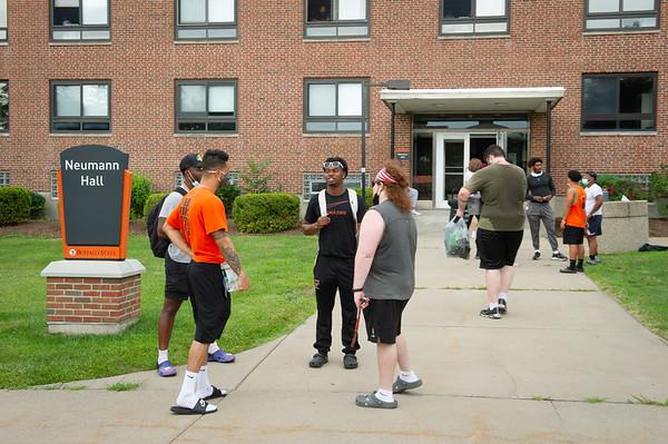 BSCene: Football Players Moving Into Neumann Hall
