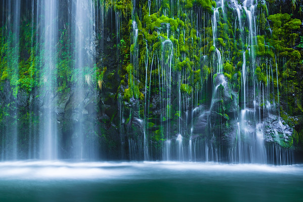 California Waterfalls in Spring - Mount Shasta area and Burney Falls