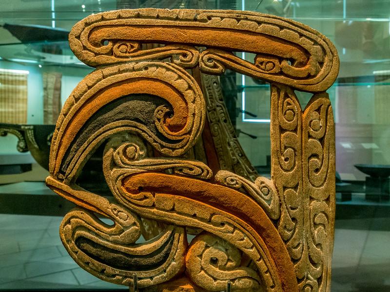 Kanu-Verziehrung aus den «Trobriant Islands» im «Auckland War Memorial Museum»