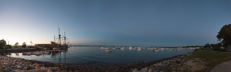 Mayflower II at Twilight - Plymouth, Massachusetts, USA - August 13, 2015