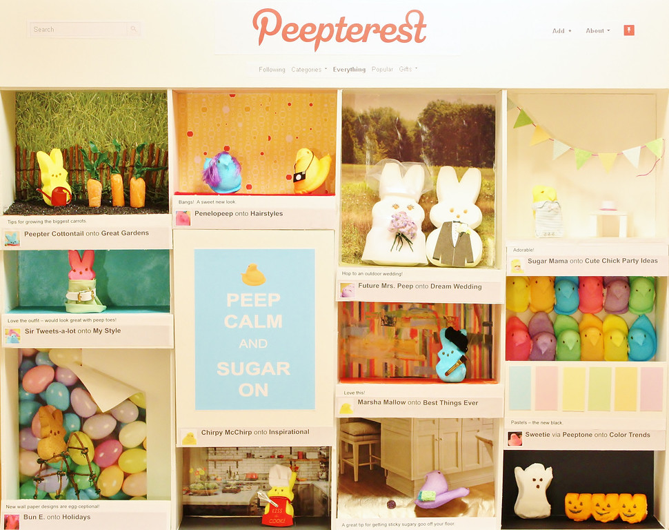 ". ""PEEPterest,\"" by Jessica Doody, St. Paul"