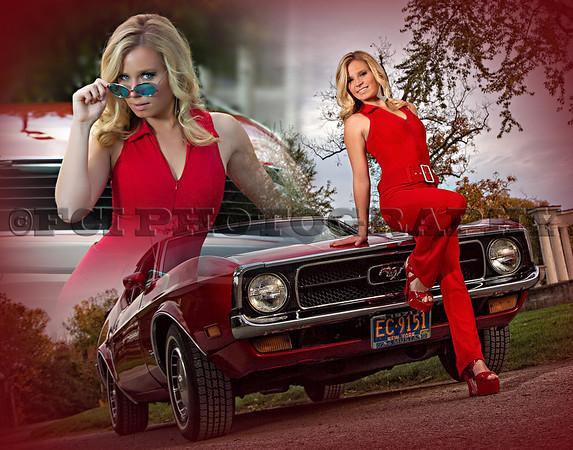 Christina w/ Mustang