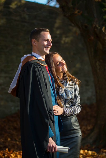 04/11/2016. Waterford Institute of Technology (WIT) Conferring Ceremonies November 2016:  Pictured is Elvinas Palcanskis and Milana Ziedelyte from Wexford, Elvinas graduated BSc in Applied Conservation Skills. Picture: Patrick Browne