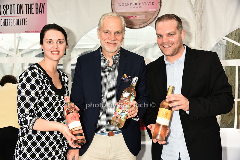 Alex Falk, Roman Roth, and Werner Schaumann attend Dan's Rose' Soiree at the Southampton Arts Center in Southampon on May 28, 2017.