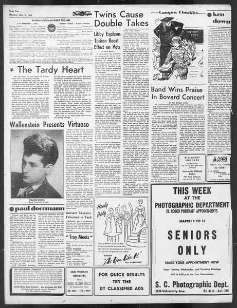 Daily Trojan, Vol. 39, No. 94, March 08, 1948