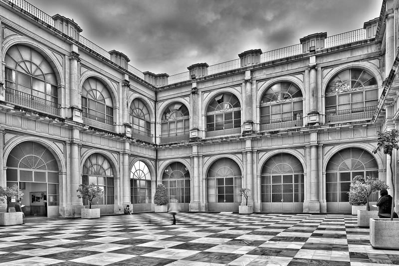 Courtyard, University of Seville (former Royal Tobacco Factory), Seville, Spain