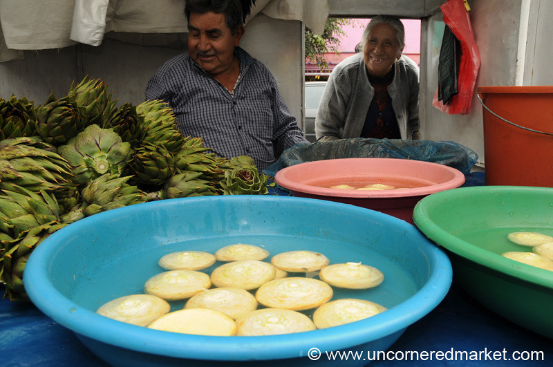 In Artichoke Heaven at Surquillo Market - Lima, Peru
