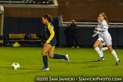 10-18-13 Michigan Women's Soccer Vs Indiana