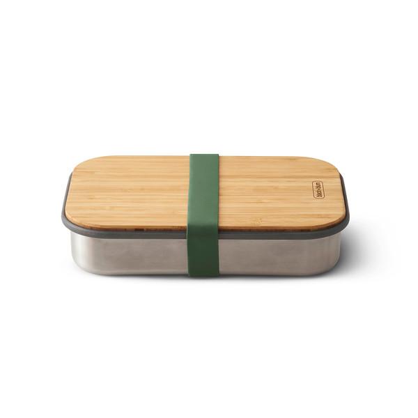 Stainless Steel Sandwich Box olive Black Blum