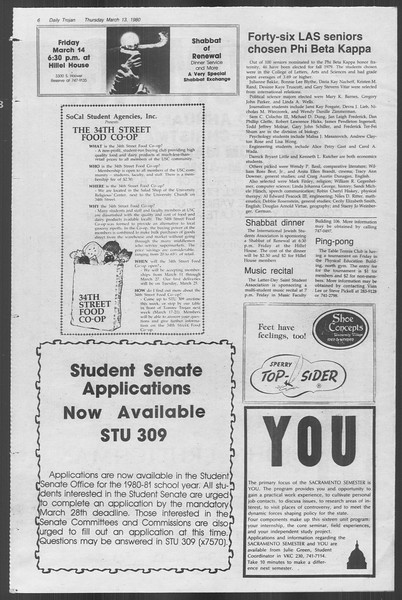 Daily Trojan, Vol. 88, No. 27, March 13, 1980