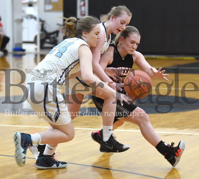Moniteau vs Brookville in the District 9 Girls Basketball Class 3A finals at Keystone High School