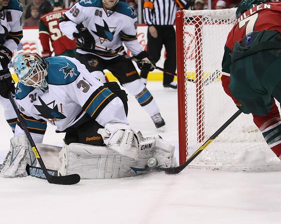 MN Wild vs San Jose Sharks - 1/10/12