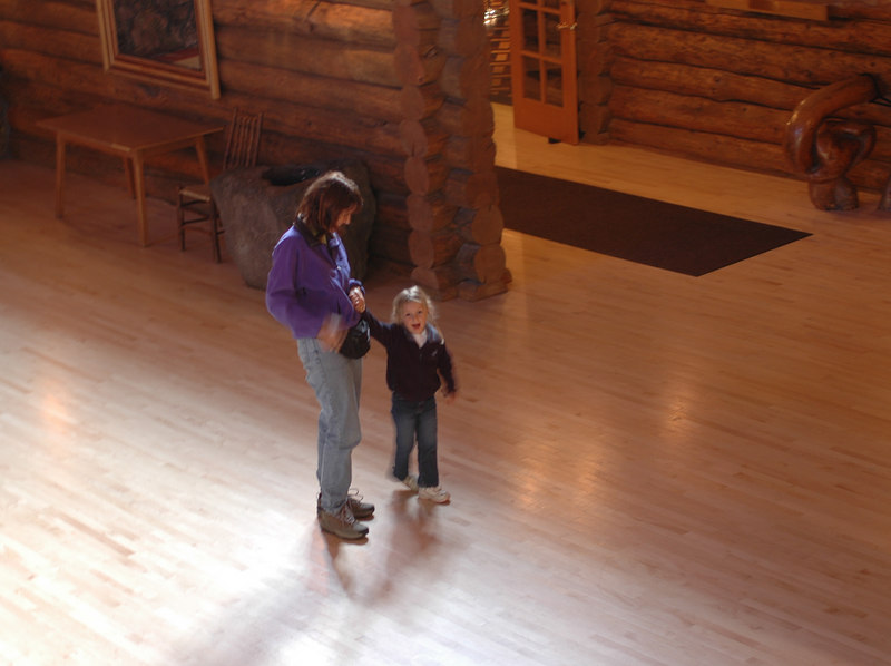 Kelly and Patty in the Old Faithful Lodge