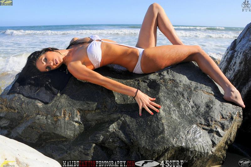 beautiful woman sunset beach swimsuit model 45surf 854.09...