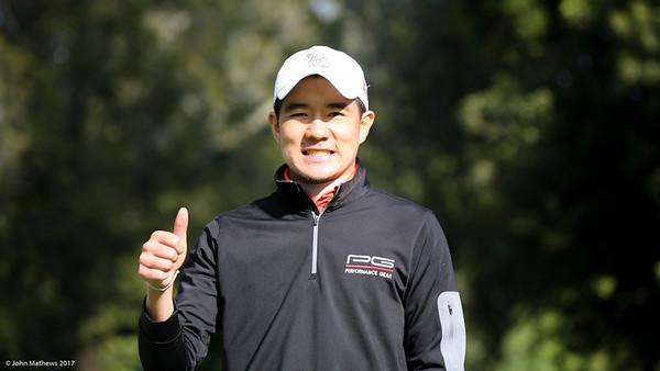 Kosuke Hamamoto from Thailand looking relaxed after teeing off on the 9th hole on Day 2 of the Asia-Pacific Amateur Championship tournament 2017 held at Royal Wellington Golf Club, in Heretaunga, Upper Hutt, New Zealand from 26 - 29 October 2017. Copyright John Mathews 2017.   www.megasportmedia.co.nz