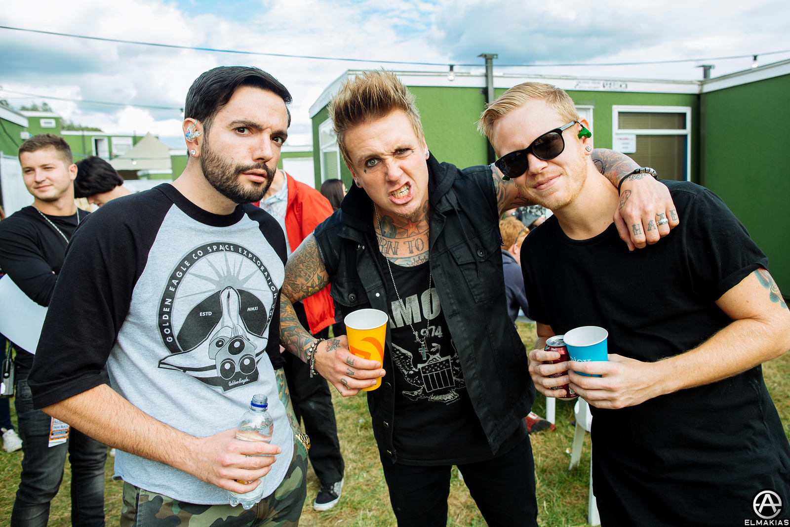 Jeremy and Josh of ADTR with Jacoby of Papa Roach
