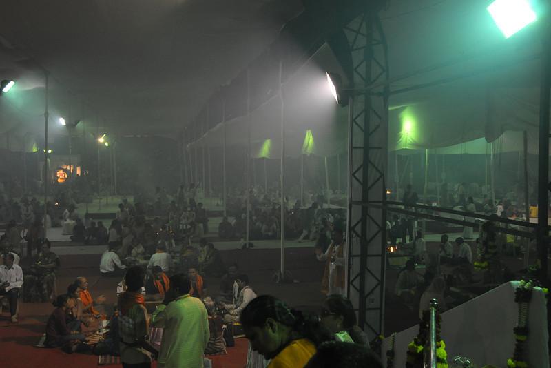 Chinmaya Mission Mumbai's Maha Jnana Yajna and 108 Samashti Havan. Chant Mumbai. Shaant Mumbai.Thousands of Mumbaikars came together on Sunday, 15th Feb 2009 to jointly chant 'Hanuman Chalisa', at a congregation called 'Chant Mumbai Shaant Mumbai'. The congregation was organised by Chinmaya Mission at Andheri Sports Complex for the peace and prosperity for the city of Mumbai.