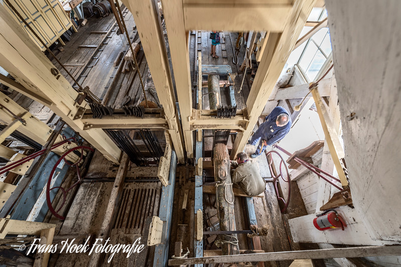 Sawmill D'Heesterboom Leiden. The works from above