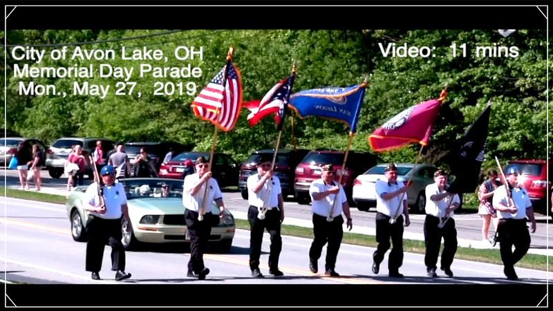 Video:   11 mins ~~ Avon Lake, OH Memorial Day Parade, May 27, 2018.