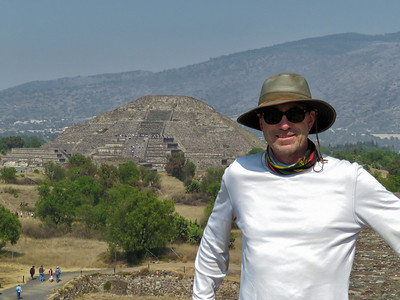 Bill on top of  Pyramid of the Sun (Teotihuacan)