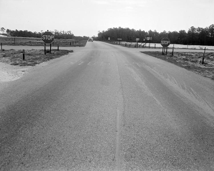 Expressway and Atlantic cutoff in 1956.