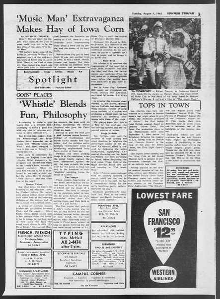 Summer Trojan, Vol. 12, No. 12, August 07, 1962