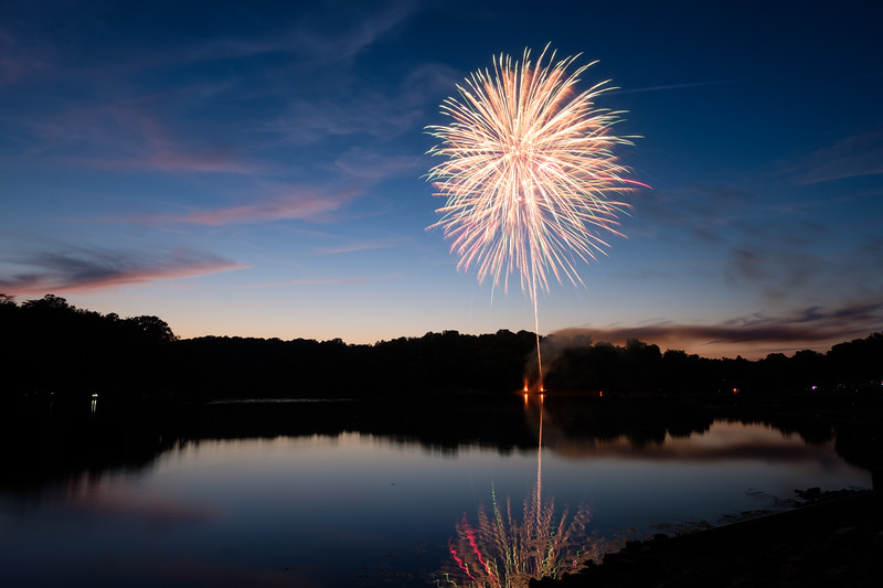 Fireworks over Lake Fairfax