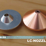 SKU: LC-NOZZLE/2, Metal/Non-Metal CO2 Laser Nozzle Set, include One Aluminium Non-Metal Cutting Nozzle and One Copper Metal Cutting Nozzle