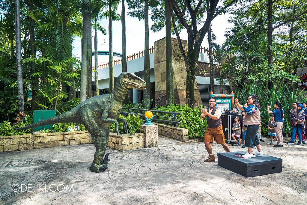 Universal Studios Singapore Park Update - Jurassic World Explore and Roar event - Jurassic World: Raptor Training School experience / Individual Raptor interaction