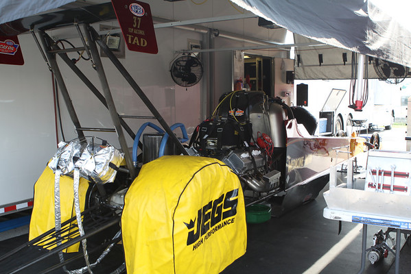 Top Alcohol Dragster Pits