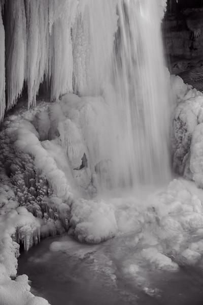 Cucumber Falls in Winter