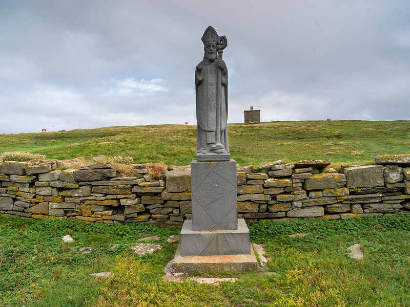 Statue of St Patrick, Downpatrick Head, Killala, County Mayo, Ireland