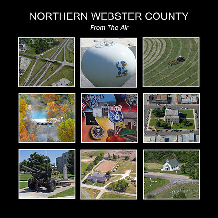 Northern Webster County From the Air. 64 Page Hardback book. Available now in Marshfield at American Family Insurance, Mailbox It, MFA, Hartwells Hardware, or at the Webster County Museum.