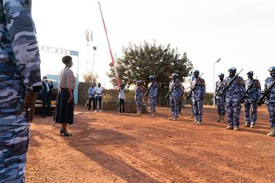 Visite d'un camp d'Unité de Police Constituée (FPU) de la MINUSCA - RCA