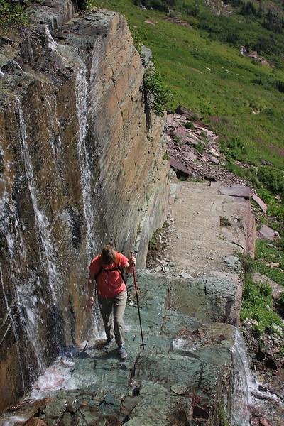 Hiking through a waterfall!