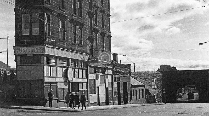 Maryhill Road south of Sandbank St.  June 1976