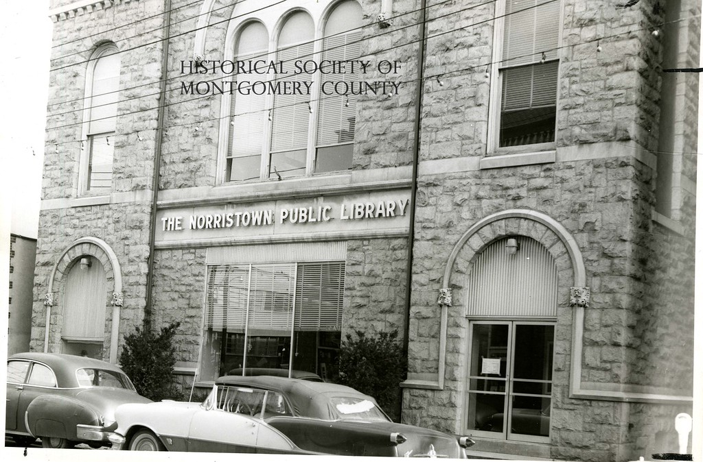 . This photo from the Historical Society of Montgomery County shows the old Norristown Public Library in the (c.) mid-1960s. It was located on DeKalb Street.
