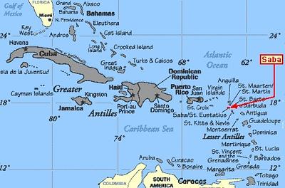 Saba Island Netherlands, Antilles- March 2008