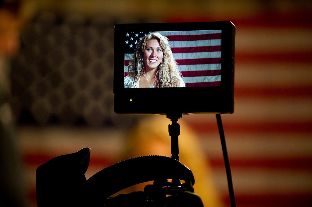 . Mikaela Shiffrin waits for an interview with former Olympic Skier Picabo Street in Avon, Co. on July 15, 2013. (Photo By Grant Hindsley/The Denver Post)