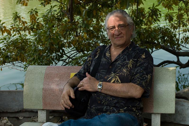 David Minker at The Huc Bridge, Hanoi, Vietnam.