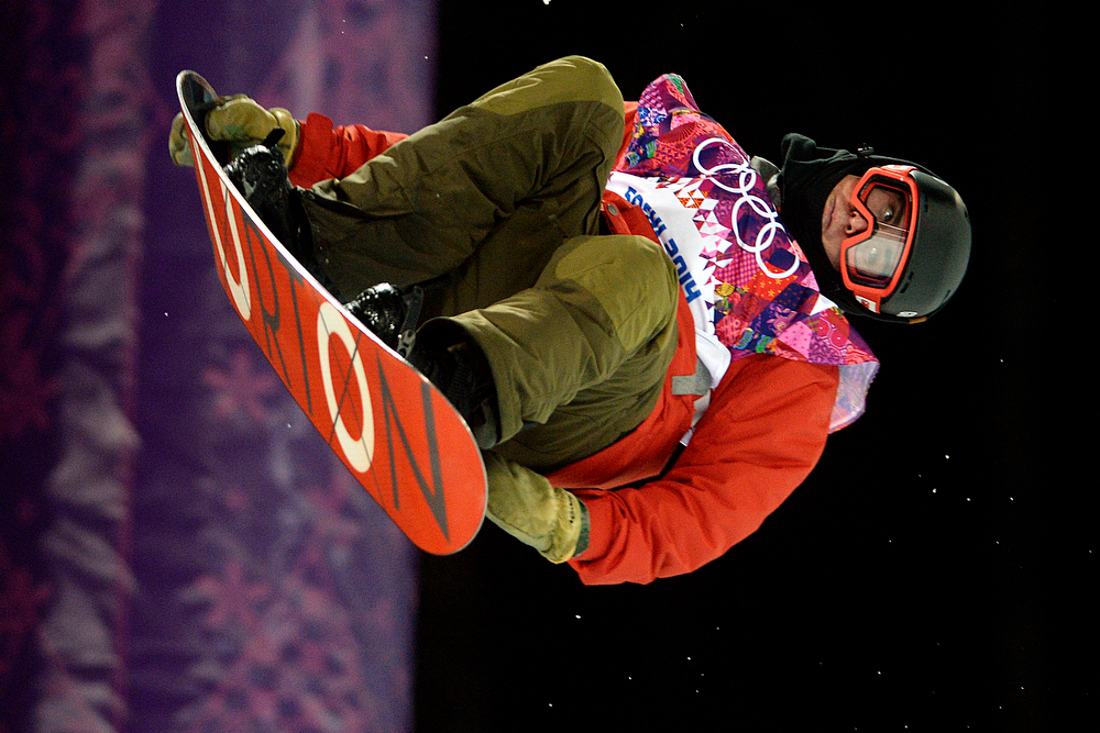 . Switzerland\'s Christian Haller rides during the men\'s snowboard halfpipe final. Sochi 2014 Winter Olympics on Tuesday, February 11, 2014. (Photo by AAron Ontiveroz/The Denver Post)