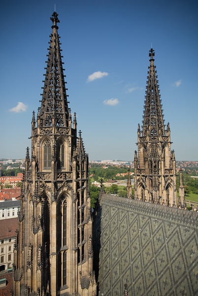 View from the Great South Tower of St. Vitus Cathedral
