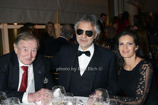 Sirio Maccioni, Andrea Bocelli and wife Veronica Berti photo by Rob Rich/SocietyAllure.com © 2014 robwayne1@aol.com 516-676-3939