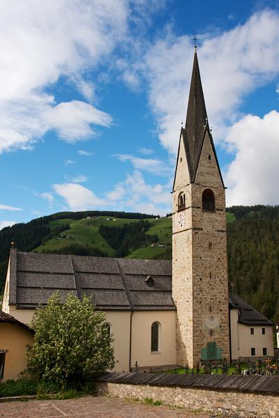 San Martino Church in Alta Badia, Dolomites, Italy