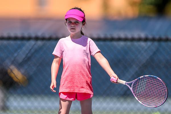 Maddie Playing Tennis