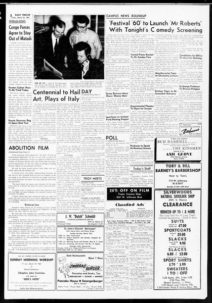 Daily Trojan, Vol. 52, No. 88, March 10, 1961