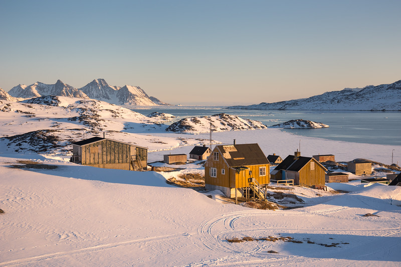 Kuummiit at sunset, East Greenland