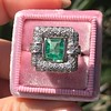 1.60ctw Emerald and Diamond Cocktail Ring 10