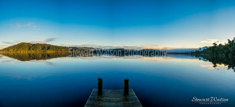 Lake Ianthe Panorama at sunrise
